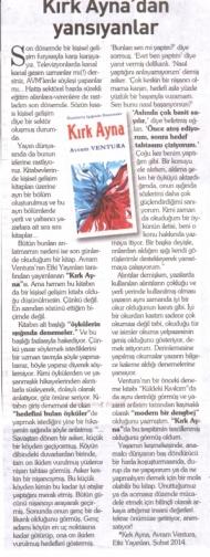 Kırk Ayna, Yeni Asır Gazetesi kapağı
